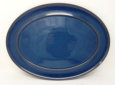 "Denby Boston - Blue - 14.5"" Oval Serving Platter - First Quality - VGC"