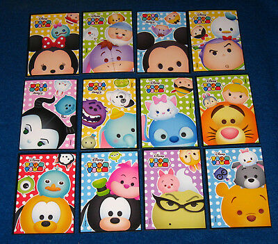 "Collection of 12 Different Disney's Tsum Tsum Stickers (2 3/16"" x 3 1/4"" each)"