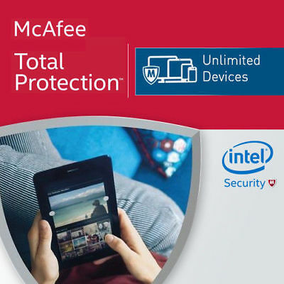 McAfee Total Protection 2019 Unlimited Devices 12 Months MAC,Win,Android 2018 CA
