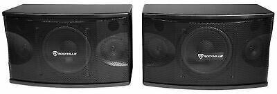 "Pair Rockville KPS80 8"" 3-Way 800 Watt Karaoke/Pro Speakers+Wall Brackets / MDF!"