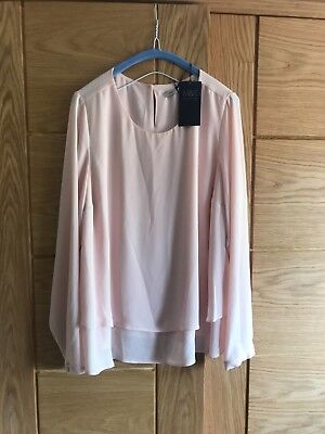 BNWT Ladies Blush Pink Marks & Spencer Collection Blouse Size