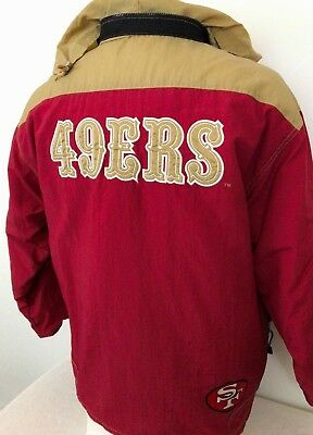 ec8cc34f44d San Francisco 49ERS Hoodie Jacket Full Zip Sewn Logos Red sz L Large  Embroidered
