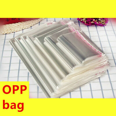 Resealable Self Adhesive Clear Cellophane Cello Bags Plastic OPP Packaging Bags
