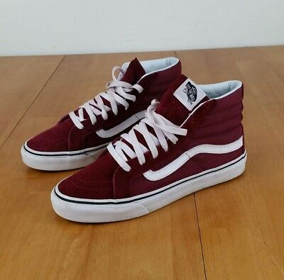 5a8314c5679093 Sk8 7 Size Red Shoes Vans The Women s Hi Suede Burgundy Off Wall Men  OwftqWPg