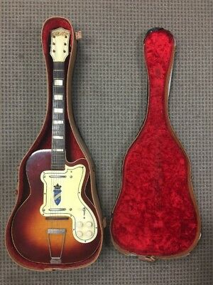 Silvertone K161 1382L Kay Thin Twin Jimmy Reed Semi Hollow Brown Electric Guitar