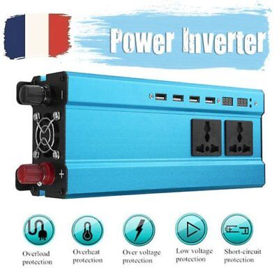 5000W DC12V à AC220V LED Digital Display Power Inverter Onduleur Convertisseur