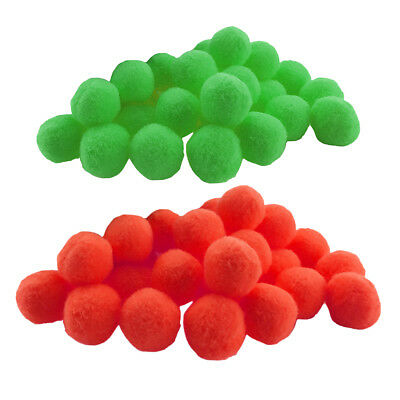 200 Pcs Cute Polypropylene Craft Pom Poms Mini Accessories Red and Green
