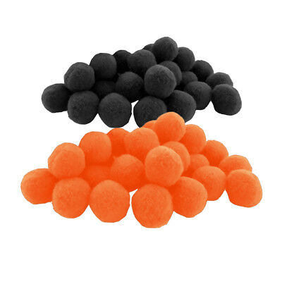 200 Pcs Craft Pom Poms DIY Accessories Pompom Balls Black & Orange Kid Favor