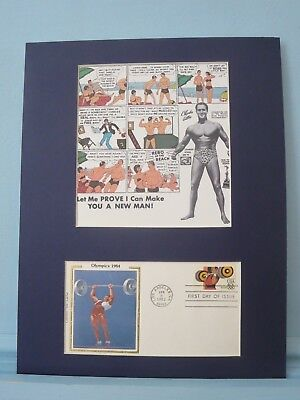 Charles Atlas -  Physical Fitness honored by the Physical Fitness stamp