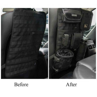 Car Seat Back Organizer Tactical Vehicle Panel Car Seat Cover Storage MOLLE