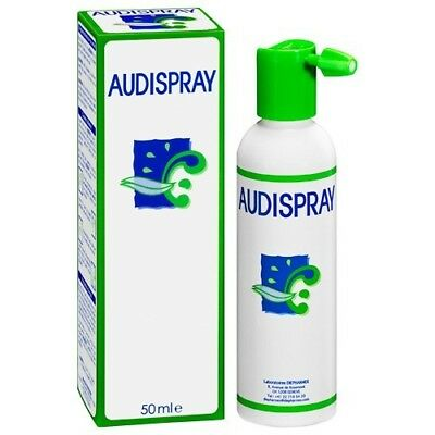 Audispray Adult Ear Hygiene Spray Softens & Dissolves Earwax Ear Wax 50ml