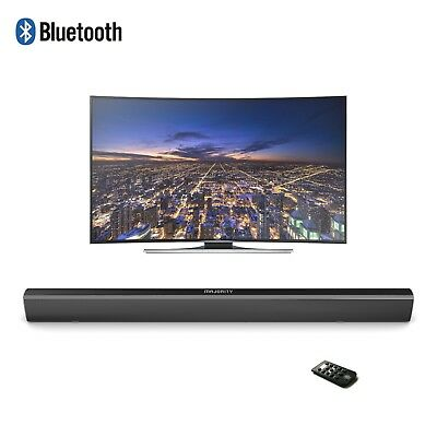 Majority TV Sound Bar with Bluetooth 2 Channel Optical Audio Wall Mountable