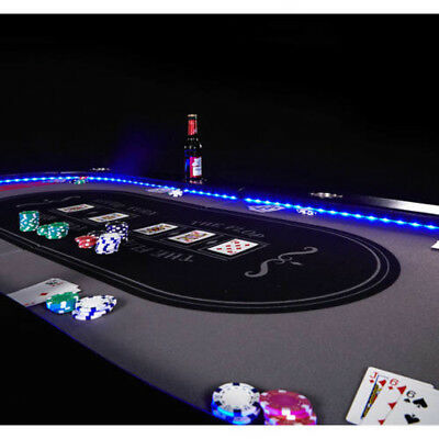 Astonishing Espn 10 Player Premium Poker Table With In Laid Led Lights Party Texas Holdem Beutiful Home Inspiration Xortanetmahrainfo