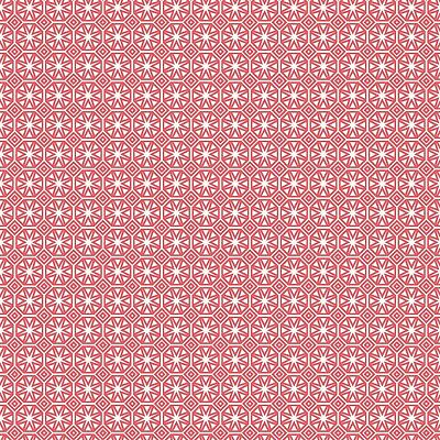 Pvc Table Cloth Geo Star Pink Geometric Tile Print Coral Salmon White Wipe Able