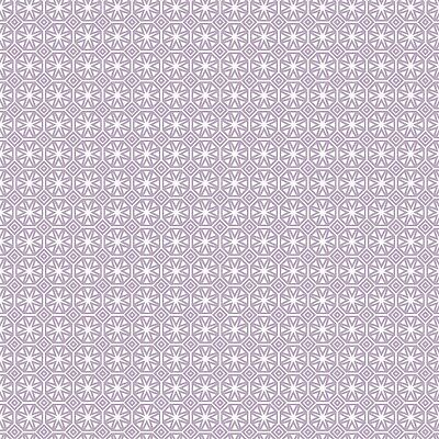 Pvc Table Cloth Geo Star Lilac Geometric Tile Diamond Print White Wipe Able