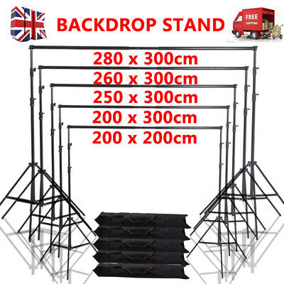 Photo Studio Backdrop Background Support System Stand Telescopic Crossbar 5 Size