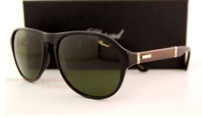 7c78bb78b10 CHOPARD SCH-932 MEN Black Leather Piece Mirrored Polarized Aviator ...