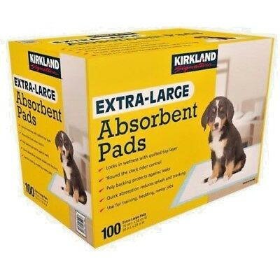 Kirkland extra-large absorbent puppy/dog training pads (Pack of 100) 30' X 23'