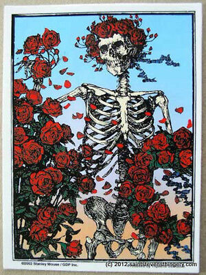 AD127 Grateful Dead Skeleton and Roses Yujean Decal