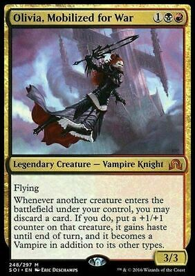 Olivia, Mobilized for War ~  Shadows over Innistrad ~ NearMint ~ Magic MTG