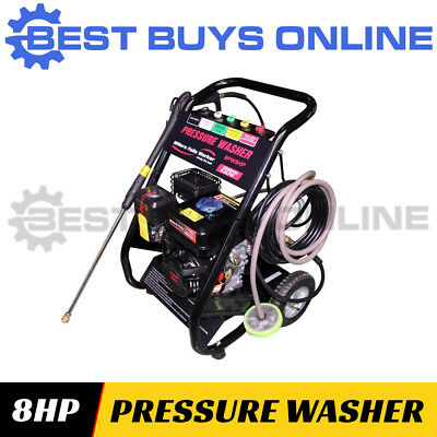 NEW 8HP PETROL PRESSURE WASHER HIGH PRESSURE WATER CLEANER Quality Hose
