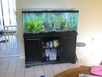 75 Gallon Aquarium Fish Tank With Stand And Many Extras Ideal For