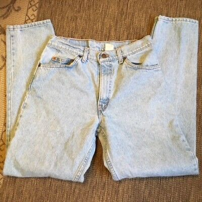 VTG USA Levi's 550 High Rise RELAXED FIT Tapered Leg Mom Jeans W31 L32 Stonewash