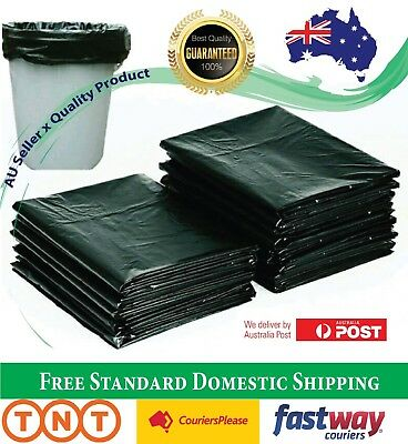 Garbage Bags Black Heavy Duty Kitchen Rubbish Bin Liners Large Plastic Trash Bag