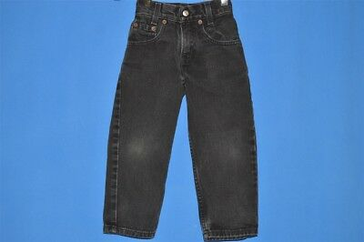 vintage 90s LEVIS 44 SLIM 4T BOY'S BLACK DENIM JEANS PANTS RELAXED FIT 4