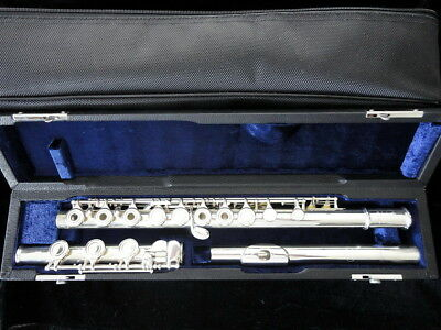 Buffet Crampon open hole flute, 925 solid silver head, B foot, couper scale.