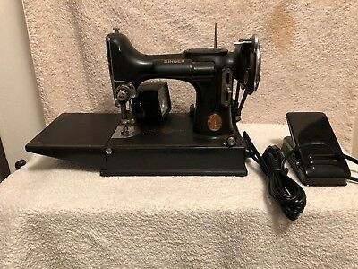 SINGER FEATHERWEIGHT QUILTING Sewing Machine 40 4040 No Case No Best Singer Quilting Sewing Machine