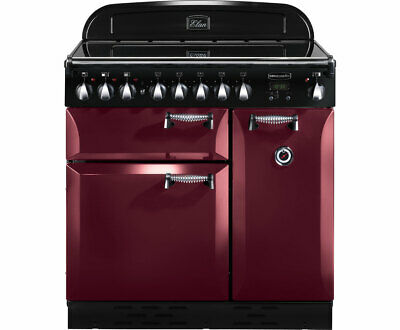 Rangemaster ELAS90ECCY Elan 90cm 5 Burners A Electric Range Cooker Cranberry