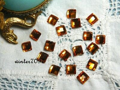 (27)*costume Makers Sellout**flat Back Rhinestone*gold*squares*new!*