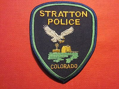 Collectible Colorado Police Patch Stratton New