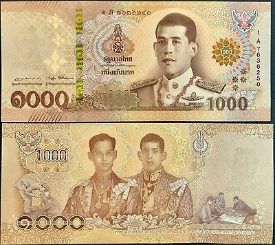 Thailand 1000 1,000 Baht Nd 2018 P New Design King Rama X Unc