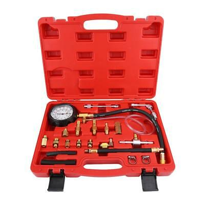 Diesel Fuel Pump Pressure Gauge Diagnostic Tool Kit 0-140PSI Injector TU-114 Red