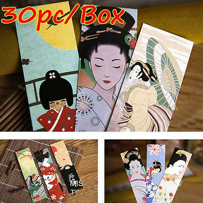 30pcs Cute Paper Bookmark Vintage Japanese Style Book Marks For Kid Supplies B