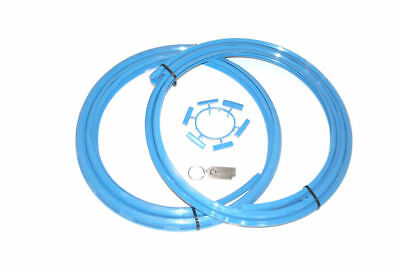 """ALLOYGATOR ALLOY WHEEL RIM PROTECTION SYSTEM SET OF 4 IN SKY BLUE 13"""" to 21"""""""