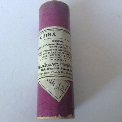 Late19Th/Early 20Th Century China O. Tincture Sealed W Butcher & Co. London