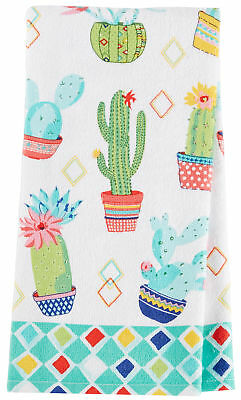 Kay Dee Designs Cactus Garden Terry Kitchen Towel One Size White/blue/pink/green