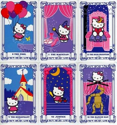 Hello Kitty Tarot cards / 22 card only / by Ryuji Kagami from Japan F/S