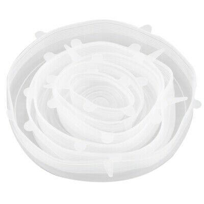 6x Silicone Storage Covers 6-Pack of Various Sizes Silicone Stretch Lids f X9J5
