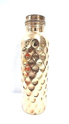 New Big Desig Hammered Pure Copper Water Bottle 950ml  100% Pure Copper FreeShip