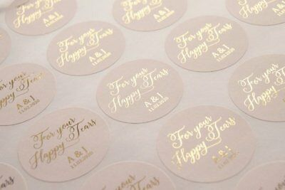 For your happy tears stickers foil personalised wedding tissue favours labels