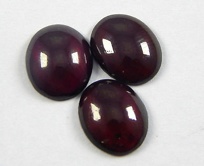 Amazing 10.30 Ct Natural Rhodolite Garnet 9x11mm Oval Shape 3 Pcs Loose Gemstone
