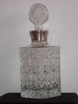 Antique whiskey decanter crystal glass decanter ships decanter excellent