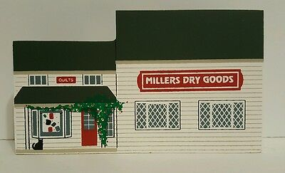 1994 Cats Meow Wooden Shelf Sitter  Amish Craftsman Series Millers Dry Goods