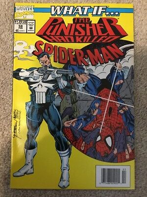 Marvel What If 58 The Punisher Had Killed Spider-Man VF+/NM * Newsstand *