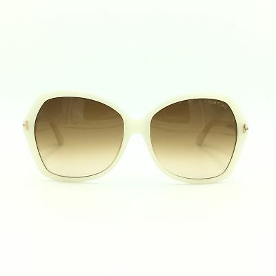 b1e49a80cc9c Tom Ford Carola TF 328 20F Ivory Butterfly Frame w  Gradient Brown Lenses