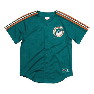 868a2897 NEW MEN'S NFL Mitchell & Ness Shirt - Off Tackle Run Top - Miami ...